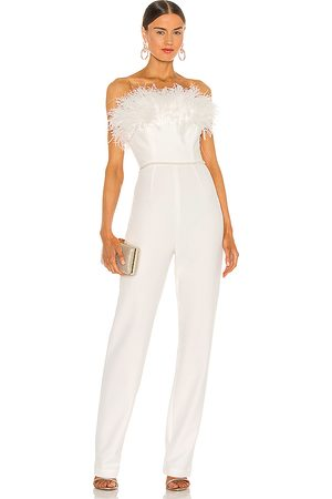Bronx and Banco Lola Blanc Feather Jumpsuit in . - size M (also in S)