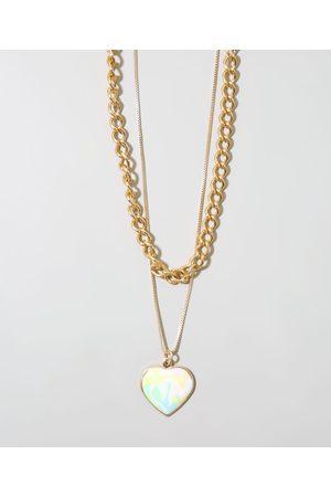 C&A Kit de 2 Colares Femininos com Pingente de Coração