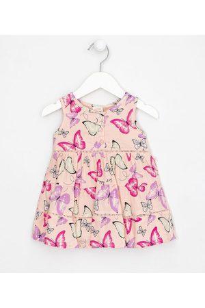 Teddy Boom (0 a 18 meses) Vestido Infantil com Recortes Maria Estampa Borboletas - Tam 0 a 18 meses | | | 9-12M
