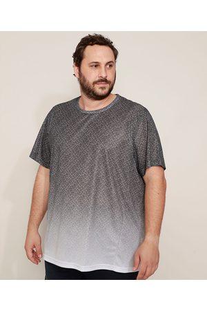 ACE Homem Manga Curta - Camiseta Masculina Plus Size Esportiva Estampada Geométrica Manga Curta Gola Careca