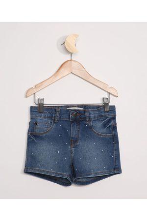 PALOMINO Menina Bermuda - Short Jeans Infantil com Strass Médio