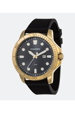 Mondaine Homem Relógios - Kit Relógio Masculino 99413GPMVDI3K Analógico 5ATM + Carteira       U