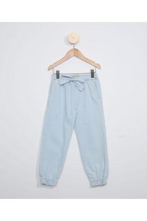 Palomino Calça Jeans Infantil Jogger com Laço Claro