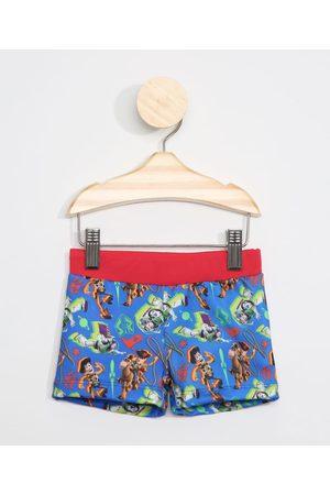 Disney Menino Short de Banho & Sunga - Sunga Infantil Boxer Estampada Toy Story com Proteção UV50+ Azul