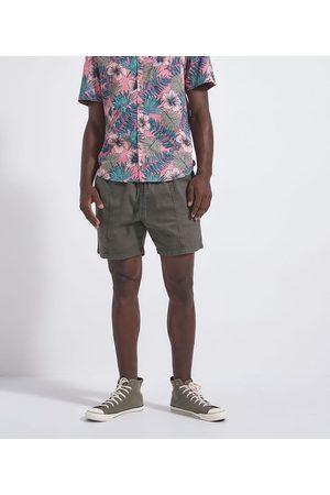 Blue Steel Homem Short - Short em Sarja com Amarração e Bolsos | | | M