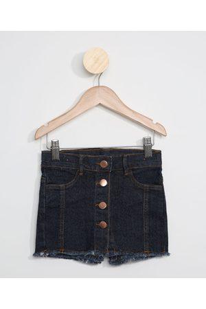PALOMINO Short Saia Jeans Infantil com Botões Escuro