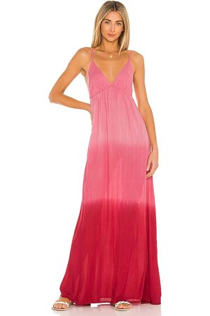 TIARE HAWAII Gracie Maxi Dress in Pink,White. - size M/L (also in S/M)