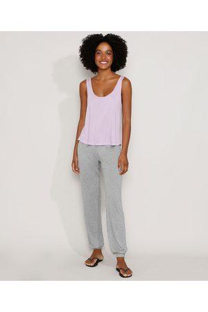 Design Íntimo Mulher Pijamas - Pijama Feminino com Amarração Regata Lilás