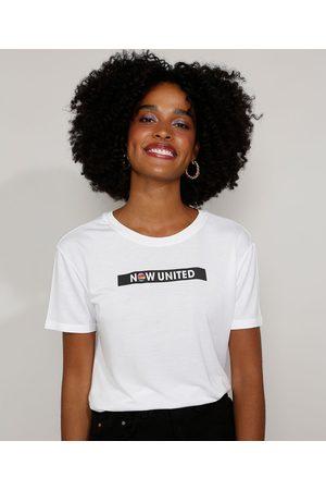 Now United Camiseta Feminina Manga Curta Decote Redondo Off White