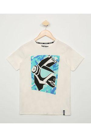 Fortnite Camiseta Juvenil Dj Yonder Manga Curta Off White