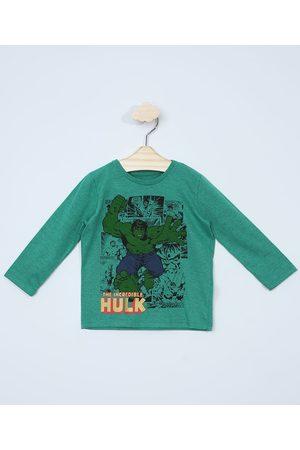 "Marvel Menino Manga Longa - Camiseta Infantil Manga Longa O Incrível Hulk"" """
