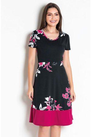 QUEIMA ESTOQUE Mulher Vestido Estampado - Vestido Floral Moda Evangélica com Elástico