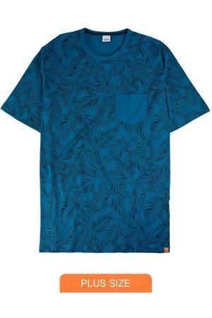 Wee Malwee Homem Manga Curta - Camiseta Tradicional Folhagens com Bolso