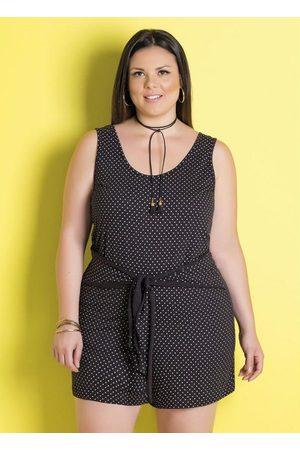 Marguerite Macaquinho de Algodão Poá Plus Size