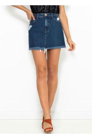 Coca-Cola Mulher Minissaia - Saia Curta Jeans