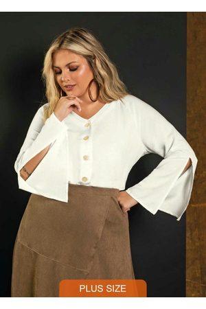 Secret Glam Mulher Camisa Casual - Camisa Feminina Viscolinho