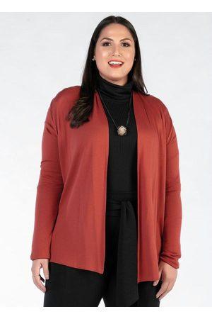 Mink Mulher Cardigã - Cardigan Plus Size Ferrugem