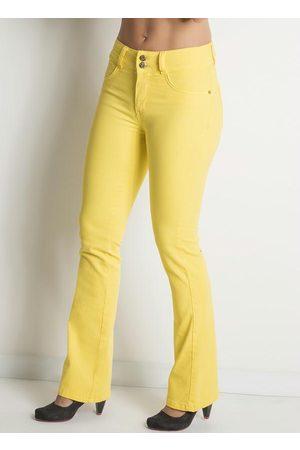 Janine Calça Flare Amarela