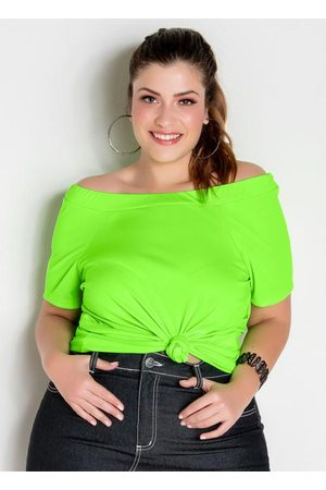 Marguerite Mulher Blusa - Blusa Ciganinha Neon Plus Size