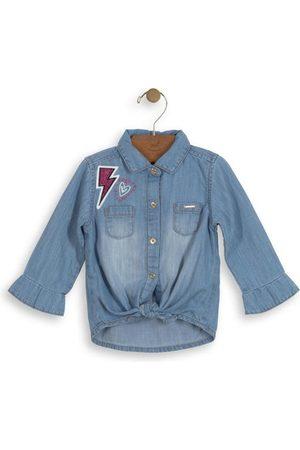 Up Baby Camisa Jeans Manga Longa Bebê