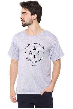 Eco Canyon Camiseta Masculina Exploring Cinz