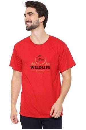 Eco Canyon Homem Manga Curta - Camiseta Masculina Wildlife Re