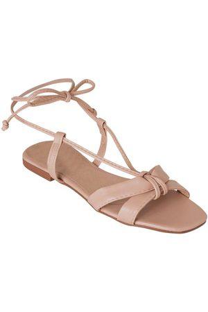 Perfecta Mulher Sandálias - Rasteirinha Rosê em Sintético