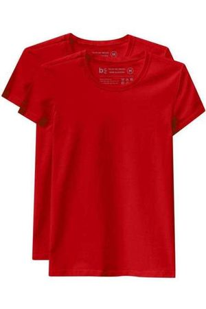 Basicamente Mulher Camiseta - Kit de 2 Camisetas Babylook Básicas