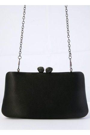 QUINTESS Mulher Bolsa Clutch - Bolsa Clutch Preta Forrada em Tecido