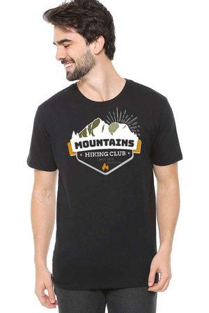 Eco Canyon Homem Manga Curta - Camiseta de Algodão Masculina Mountains