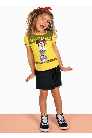 Disney Menina Conjuntos - Conjunto Infantil Blusa e Short-Saia