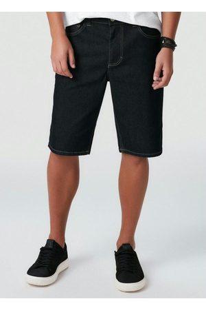 Malwee Homem Bermuda - Bermuda Escuro em Jeans com Elastano