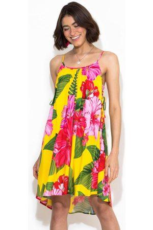 Gentleman Farmer Mulher Vestidos - Vestido Curto Chita Tropical
