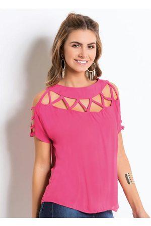 QUINTESS Blusa Pink com Tiras nos Ombros