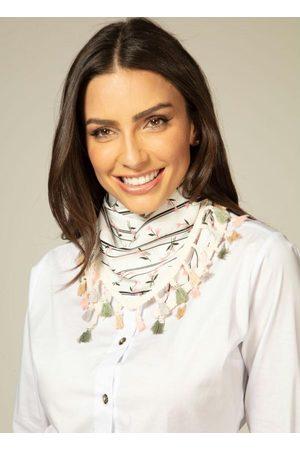 QUINTESS Mulher Lenços & Cachecol - Lenço Floral com Aplicação de Franjas