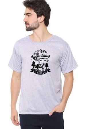 Eco Canyon Homem Manga Curta - Camiseta Masculina I Must Go Cinz