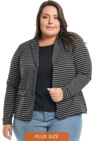 Miss Masy Plus Blazer Striped