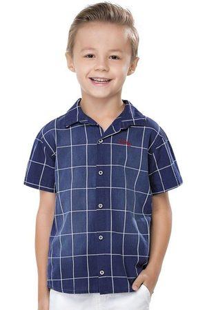 Quimby Menino Camisa Manga Curta - Camisa Infantil de Algodão