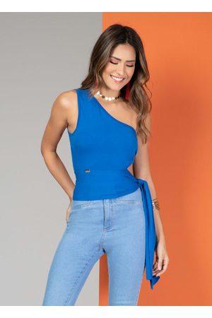 QUINTESS Mulher Blusa - Blusa Ombro Único com Amarração