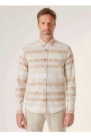 Reserva Homem Camisa Casual - Camisa Ml Ft Jacquard Origens