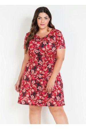 Marguerite Mulher Vestido Estampado - Vestido Floral Plus Size