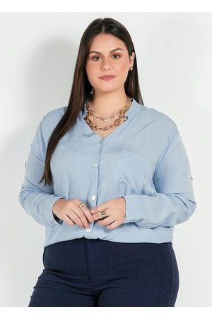 Mink Camisa Plus Size com Bolso
