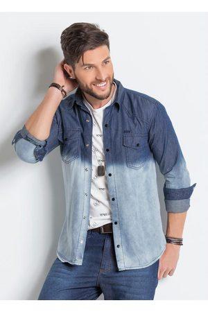 Actual Camisa Jeans com Lavação em Tie Dye