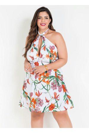 Marguerite Vestido Frente Única Floral Plus Size