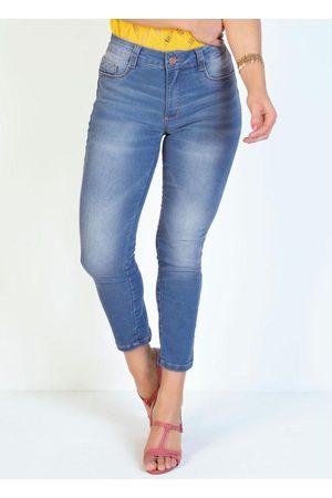 Sawary Jeans Calça Jeans Cropped Justa Sawary