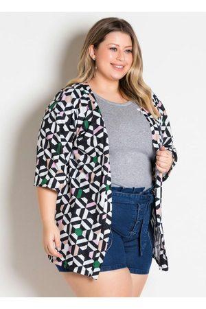Marguerite Mulher Quimono - Kimono Geométrico Amplo Plus Size
