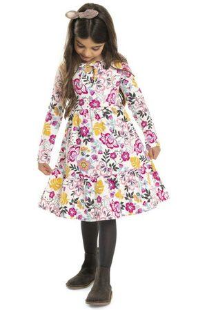 Hello Kitty Menina Vestido Longo - Vestido Inverno Manga Longa