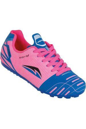 QUEIMA ESTOQUE Sapatos Esporte - Chuteira Society Pink e Azul