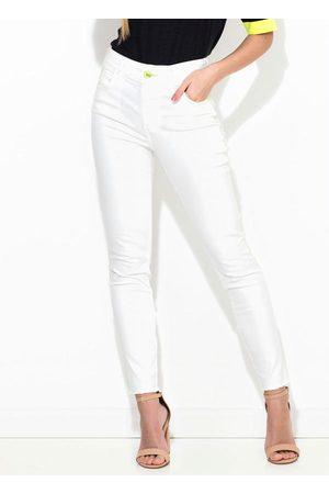 Colcci Mulher Calça de Alfataria - Calça Sarja Bia Off White