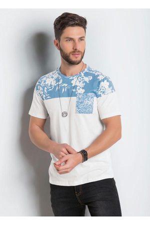 QUEIMA ESTOQUE Camiseta Actual Branca com Estampa Floral